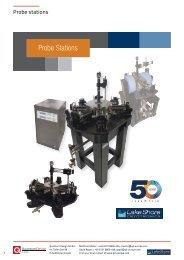 Lakeshore Cryotronics probe stations catalogue
