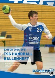 TSG Reutlingen Handball Hallenheft 2020_2021