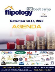 Flipology 101: The Boot Camp Schedule