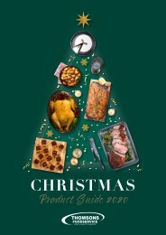 Thomsons Foodservice Christmas 2020