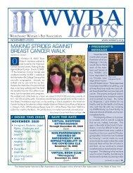WWBA November 2020 Newsletter