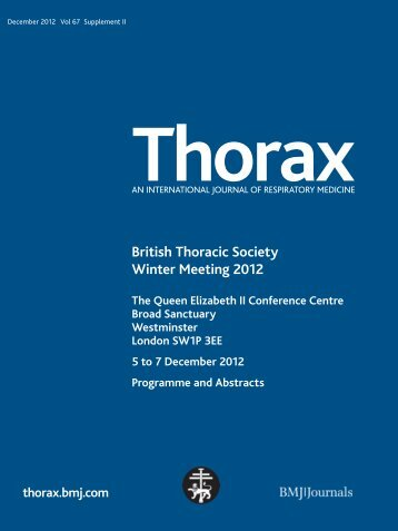 Daily programme - Brit Thoracic