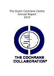 2010 - Dutch Cochrane Centre - The Cochrane Collaboration