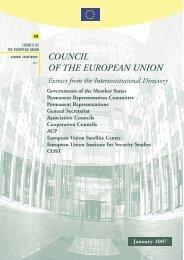 COUNCIL OF THE EUROPEAN UNION - Europa