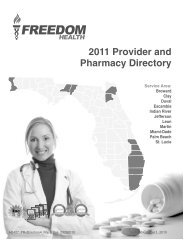 2011 Provider and Pharmacy Directory - Freedom Health