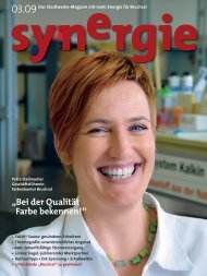 """""""Bei der Qualität Farbe bekennen!"""" synergie - Lorenz Siegel GmbH"""
