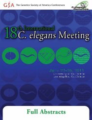 Plenary Session 1 - 19th International C. elegans Meeting