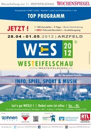 Cafeteria an der WES - GewerbeVerein Arzfeld und Umgebung