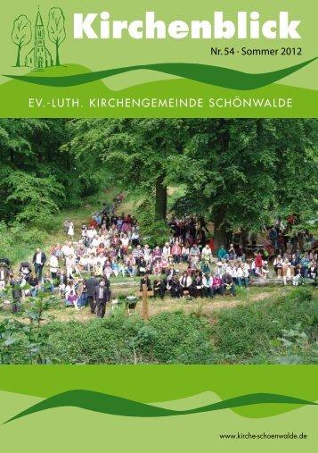 Kirchenblick - Evangelische Kirche Schönwalde