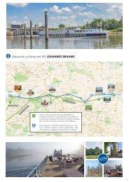 Karte zu unserer Kreuzfahrt Bramsche / Minden - Potsdam