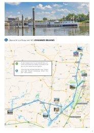 Karte zu unserer Kreuzfahrt SANSSOUCI  •  Potsdam  I  Havel  I  Preussen