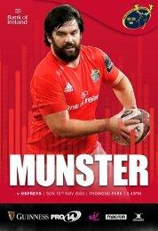 Munster Rugby v Ospreys Match Programme