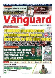 15112020 - #EndSARS promoters may  go underground worsen insecurity ex -DSS chief warns