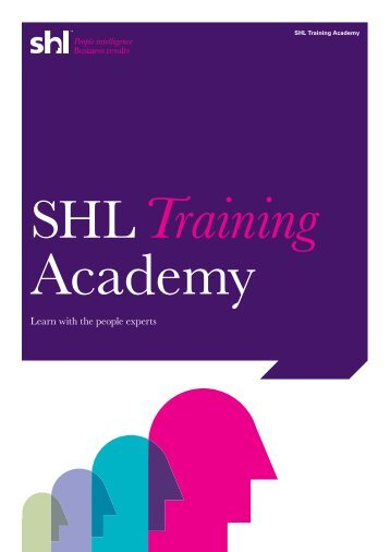 SHL Training Academy brochure