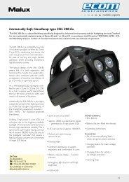 Intrinsically Safe Handlamp type SHL 300-Ex - Malux Finland Oy