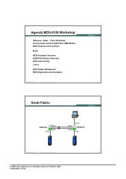 Cisco MDS 9100 Solutions