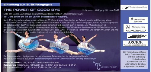 THE POWER OF GOOD BYE J.O.S.S. - Theaterbürgerstiftung