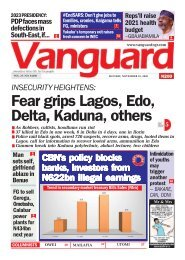16112020 - Fear grips Lagos, Edo, Delta, Kaduna, others