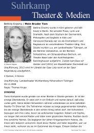 Bettina Erasmy / Mein Bruder Tom - Suhrkamp
