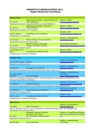 Veranstaltungskalender BVT 2011 NEU - Bodensee Vorarlberg