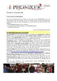 Newsletter Nr. 4, Dezember 2008 Liebe Freunde der ... - Die Phoniker