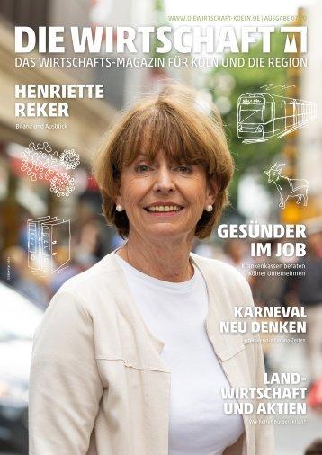 Die Wirtschaft Köln - Ausgabe 07 / 2020
