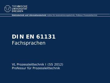 IEC 61131 - Fakultät Elektrotechnik und Informationstechnik