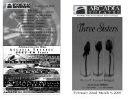 February 22nd-March 4, 2007 - Arcadia University