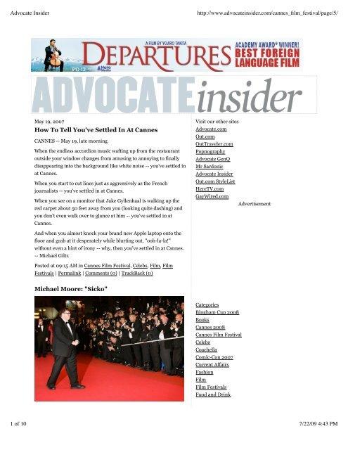 Advocate Insider - Michael Giltz