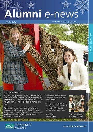 Hello Alumni - University of Derby