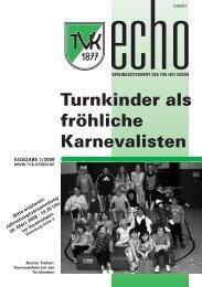 TVK-Echo 1/2008 - Turnverein 1877 eV Essen-Kupferdreh