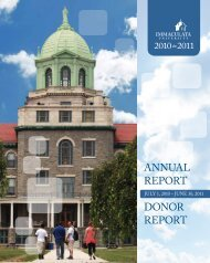 DONOR RepORt ANNuAl RepORt - Immaculata University