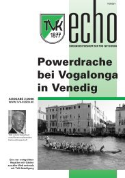Powerdrache bei Vogalonga in Venedig - Turnverein 1877 eV ...