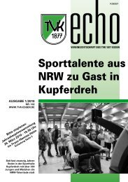 TVK-Echo 1/2010 - Turnverein 1877 eV Essen-Kupferdreh