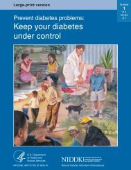 Prevent diabetes problems: Keep your diabetes under control