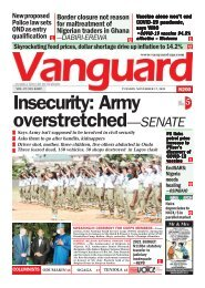 17112020 - Insecurity: Army overstretched—SENATE