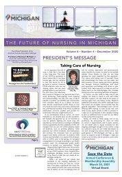 Future of Nursing in Michigan - December 2020