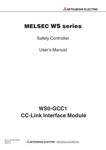 WS0-GCC1 CC-Link Interface Module MITSUBISHI ELECTRIC