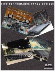 Performance Stage brochure:152725_Sico.qxd.qxd - Sico Inc.