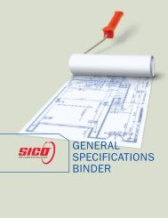 GENERAL SPECIFICATIONS BINDER - Paint for professionals