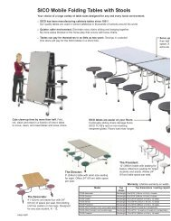 education tables brochure 09:Layout 1.qxd - Sico Inc.