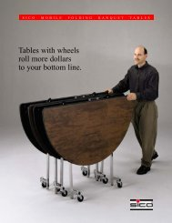 Tables with wheels roll more dollars to your bottom line. - Italasia