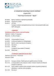 CONGRESSO REGIONALE DELLA SICOA - Aritmologia in Campania