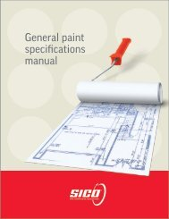 General paint specifications manual - Paint for professionals
