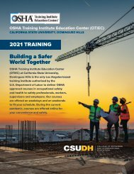 2021 CSUDH  OSHA Program Catalog (Interactive)