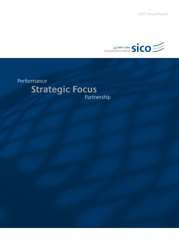 Strategic Focus - SICO