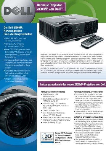Der neue Projektor 2400 MP von Delltm