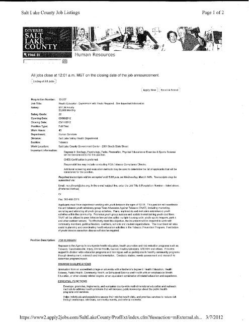 job description  resume and cover letter example