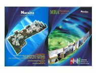 Placement Brochure MBA 2011 - Naraina Group of Institutions, Kanpur