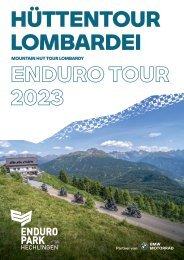 Reisebroschüre Hüttentour Lombardei